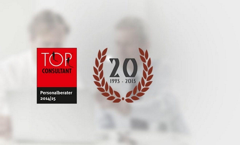 Hettl Consult Auszeichnung Top Consultant Personalberater 2014 2015 1995 2015 20 Jahre Vertrauen